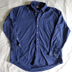 Mens Tommy Hilfiger Blue Squares Button Down Shirt